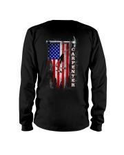 Proud American Carpenter Flag Long Sleeve Tee thumbnail