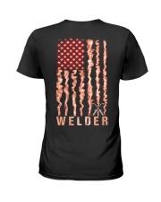 Proud American Welder Flag Ladies T-Shirt tile
