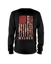 Proud American Welder Flag Long Sleeve Tee tile