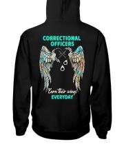 Correctional Officers earn their wings everyday Hooded Sweatshirt tile