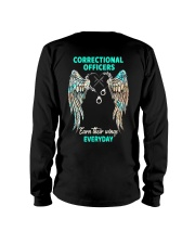Correctional Officers earn their wings everyday Long Sleeve Tee tile