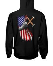 Carpenter US Flag Hooded Sweatshirt back