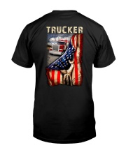 Trucker US Flag Classic T-Shirt back