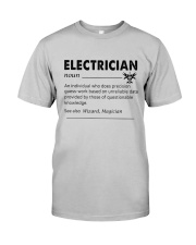 Electrician dictionary Classic T-Shirt front
