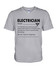 Electrician dictionary V-Neck T-Shirt thumbnail