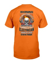 Sarcastic Electrician Classic T-Shirt back
