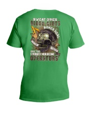 Strongest men become Operators V-Neck T-Shirt thumbnail