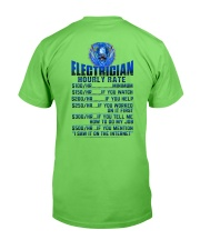 Electrician Hourly rates Classic T-Shirt back