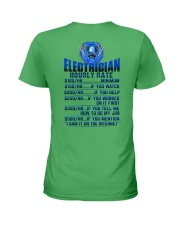 Electrician Hourly rates Ladies T-Shirt thumbnail