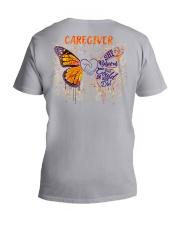 Caregiver She believed she could so she did V-Neck T-Shirt tile