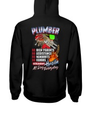 Plumber: Straight hustle all day every day Hooded Sweatshirt thumbnail