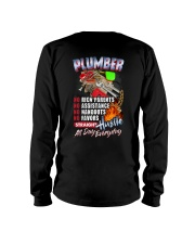 Plumber: Straight hustle all day every day Long Sleeve Tee thumbnail