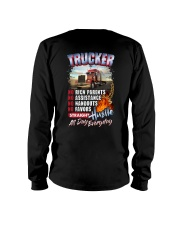 Trucker: Straight hustle all day every day Long Sleeve Tee thumbnail