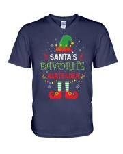 Santa's Favorite Bartender V-Neck T-Shirt thumbnail