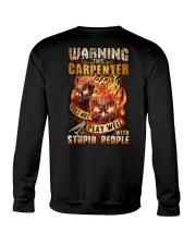 Carpenter: Warning for Stupid People Crewneck Sweatshirt thumbnail