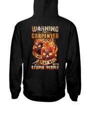 Carpenter: Warning for Stupid People Hooded Sweatshirt thumbnail