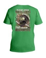 Strongest men become Machinists V-Neck T-Shirt thumbnail