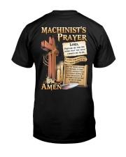 Machinist's Prayer Classic T-Shirt back