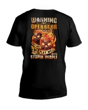 Operator: Warning for Stupid People V-Neck T-Shirt thumbnail