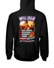 Welder: Straight hustle all day every day Hooded Sweatshirt tile