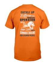 Forklift Operator: Serious dislike for Stupidity Classic T-Shirt thumbnail