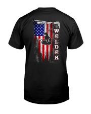 Proud American Welder Flag Classic T-Shirt back