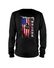 Proud American Welder Flag Long Sleeve Tee thumbnail