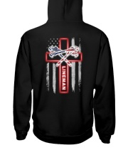 Proud American Lineman Flag Hooded Sweatshirt tile