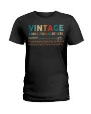Vintage Correctional Officer Ladies T-Shirt front