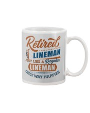 Retired Lineman only way happier Mug thumbnail