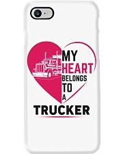My heart belongs to a trucker Phone Case i-phone-8-case