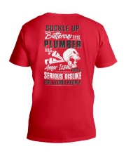 Plumber: Serious dislike for Stupidity V-Neck T-Shirt thumbnail