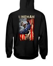 Proud American Lineman Flag Hooded Sweatshirt thumbnail