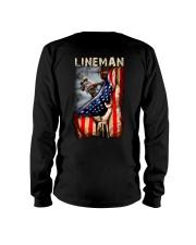 Proud American Lineman Flag Long Sleeve Tee thumbnail