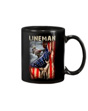 Proud American Lineman Flag Mug thumbnail