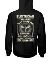 Electrician: Hardest part of my job Hooded Sweatshirt tile