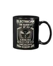 Electrician: Hardest part of my job Mug tile