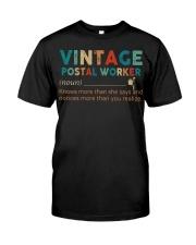 Vintage Postal Worker Classic T-Shirt tile