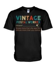Vintage Postal Worker V-Neck T-Shirt tile