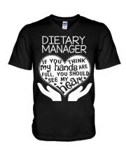 TEE SHIRT DIETARY MANAGER V-Neck T-Shirt thumbnail