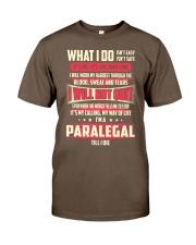 T SHIRT PARALEGAL Classic T-Shirt front