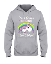 I'M A BADASS RUNNING UNICORN Hooded Sweatshirt tile