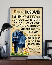 Family To My Husband I Could Turn Back The Clock 11x17 Poster lifestyle-poster-2