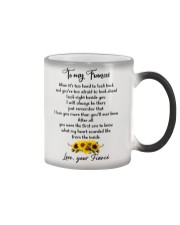 Famlily To My Fiancee I Will Always Be There Color Changing Mug tile