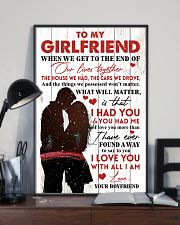Family To My Girlfriend When We Get To The End 11x17 Poster lifestyle-poster-2