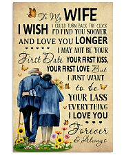 Family To My Wife I Could Turn Back The Clock 11x17 Poster front