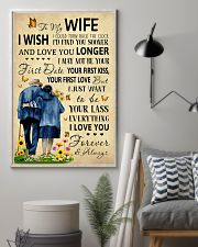 Family To My Wife I Could Turn Back The Clock 11x17 Poster lifestyle-poster-1