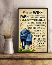 Family To My Wife I Could Turn Back The Clock 11x17 Poster lifestyle-poster-3