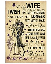 Skull To My Wife I Could Turn Back The Clock 11x17 Poster front