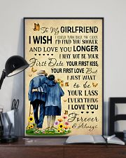 Family To My Girlfriend I Could Turn Back The Cloc 11x17 Poster lifestyle-poster-2